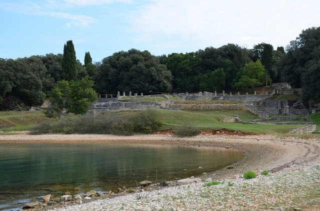 General view of the Roman Villa in the Bay of Verige, Brijuni Islands, Croatia