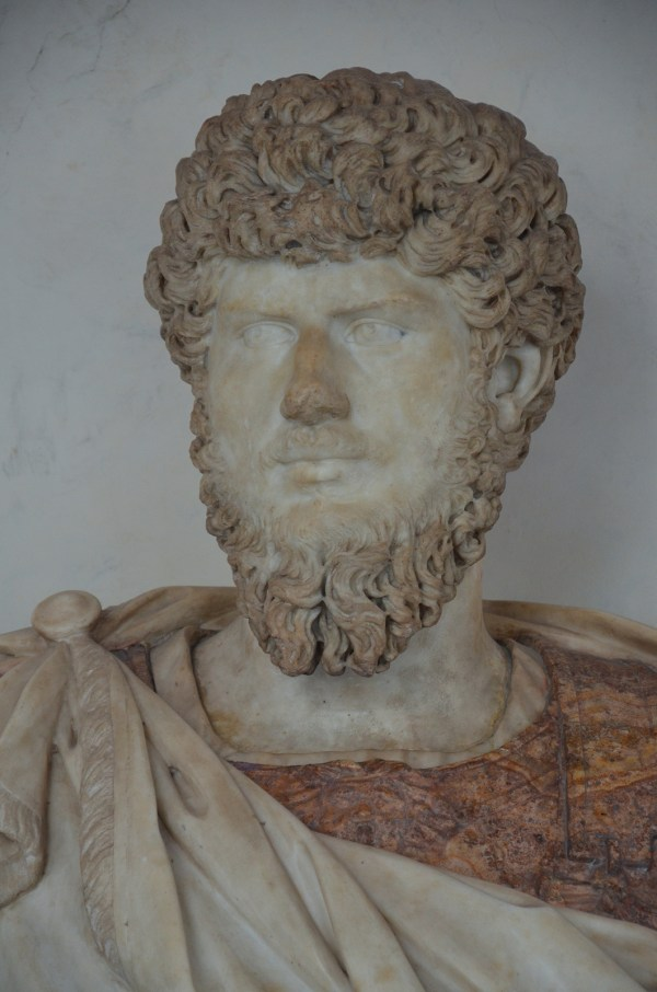 Modern marble bust with the head of Lucius Verus, 2nd half of 2nd century AD Galleria degli Uffizi, Florence