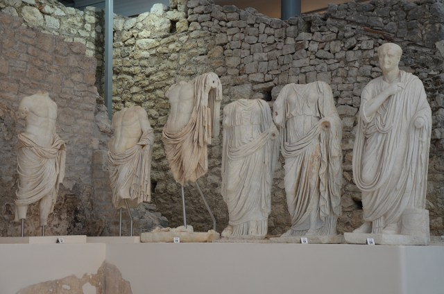 From left to right: Germanicus, Drusus, Claudius, Agrippina the Elder, Agrippina the Younger, Vespasian, Archaeological museum Narona © Carole Raddato