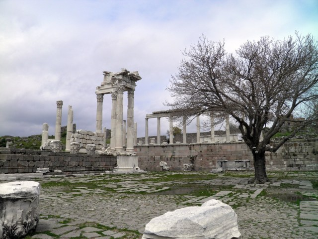 The Temple of Trajan (Trajaneum), view from the South-East, Upper Acropolis, Pergamon © Carole Raddato