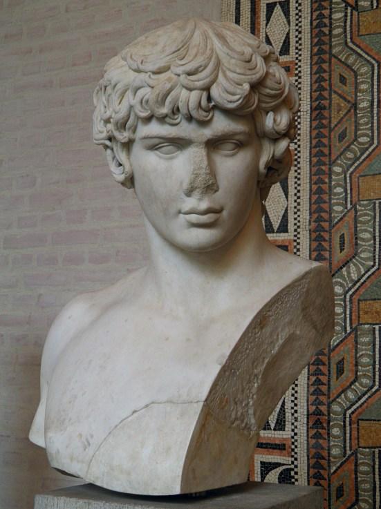 Marble bust of Antinous, circa AD 130, Glyptothek Museum, Munich
