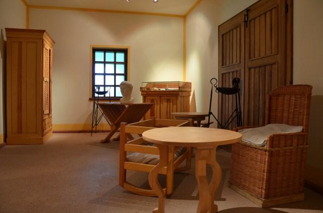 Furniture reproductions, stools, tables, cupboards etc, Villa Borg © Carole Raddato