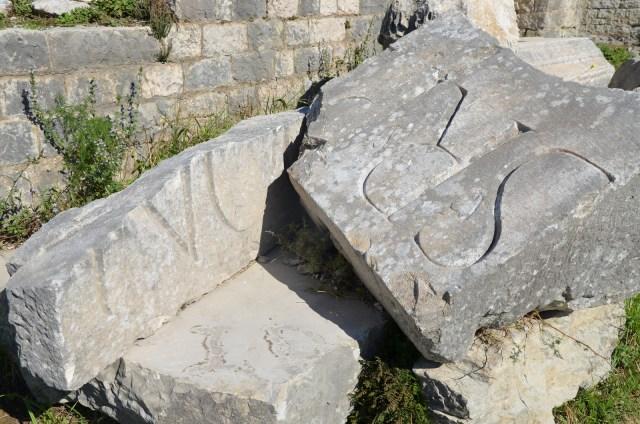 Fragmentary inscription from the Roman amphitheatre, Salona © Carole Raddato