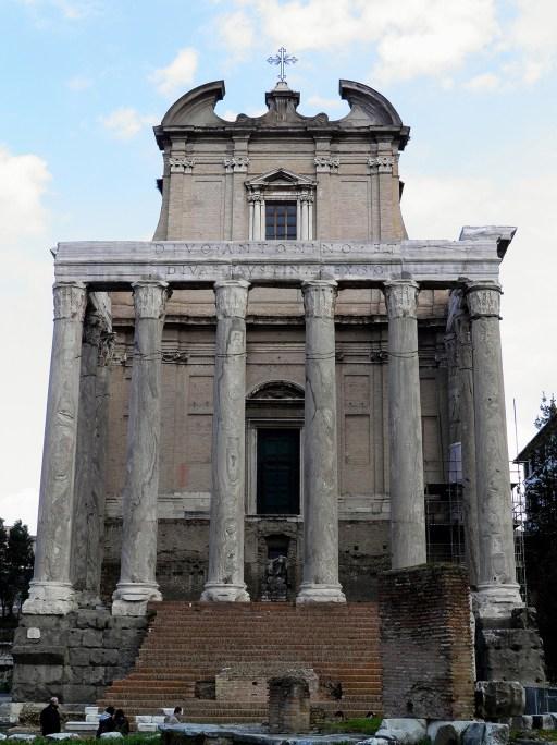 Temple of Divus Antoninus Pius and Diva Faustina, Upper Via Sacra, Rome © Carole Raddato