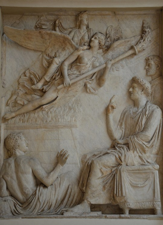 Relief from the Arc of Portugal (Arco di Portogallo) representing the apotheosis of Sabina (wife of Hadrian), 136-138 AD, Palazzo Nuovo, Capitoline Museums © Carole Raddato