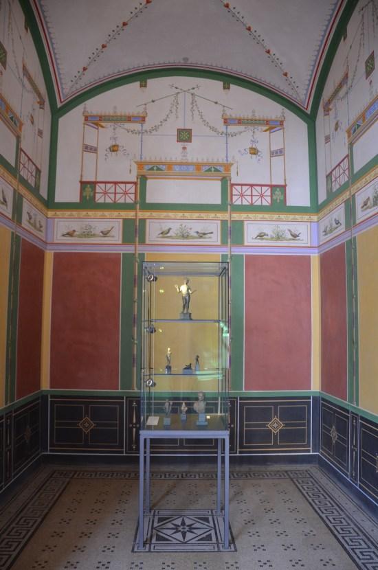 Pompejanum, the Sacrarium, a place where sacred objects were kept, Aschaffenburg, Germany © Carole Raddato