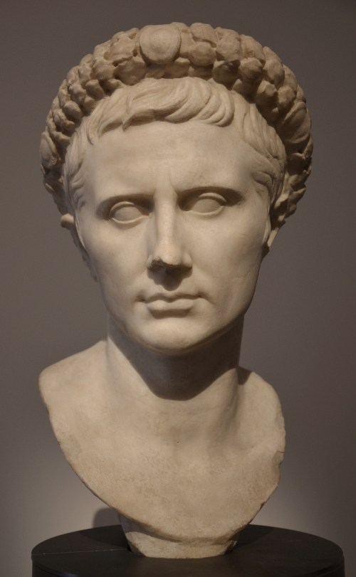Bust of Augustus wearing the Corona Civica, ca. BC 29 Rome, Musei Capitolini © Carole Raddato