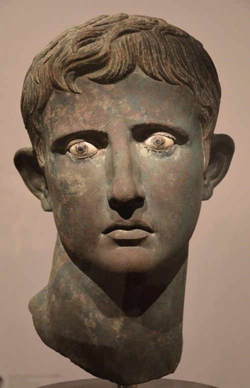 Bronze head from an over-life-sized statue of Augustus, found in the ancient Nubian site of Meroë in Sudan, 27 - 25 BC © Carole Raddato