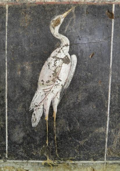 Roman fresco depicting a stilt, from a house in Vienna, 1st century AD, Musée gallo-romain de Saint Romain en Gal, Vienne