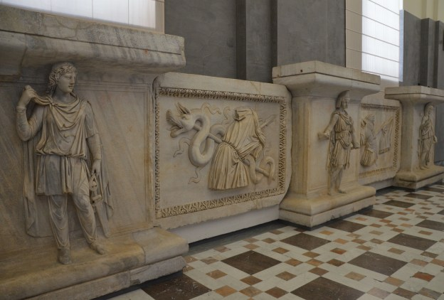 Representation of the Roman provinces and Trophies of war, reliefs from the Hadrianeum, a temple of the deified Hadrian in the Campus Martius, dedicated by Antoninus Pius in 145 AD, Naples National Archaeological Museum © Carole Raddato