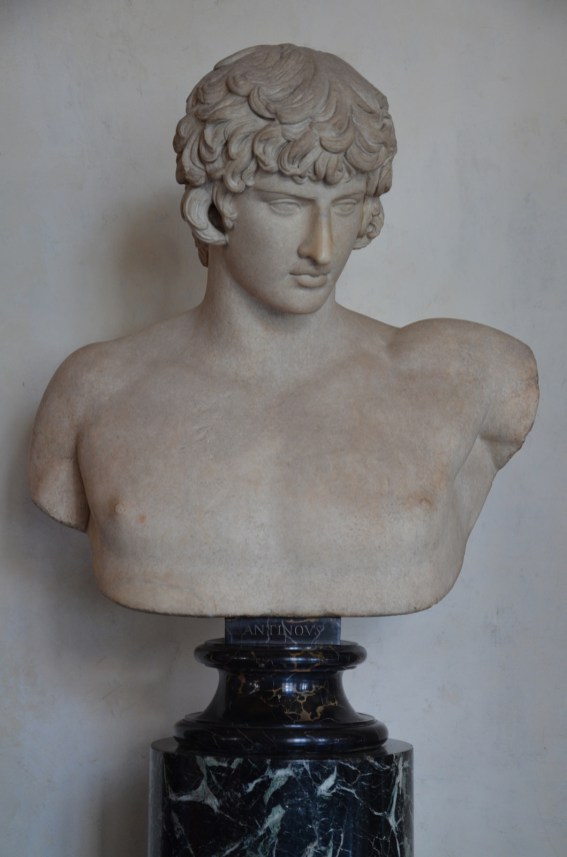 Bust of Antinous, 130-138 AD, Galleria degli Uffizi, Florence Carole Raddato CC BY-SA