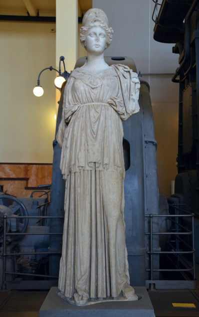 Statue of the so-called Athena of Castro Pretorio, Hellenistic statue (mid 3rd century BC) based on 6th century BC models, from the Via Mentena Centrale Montemartini, Rome