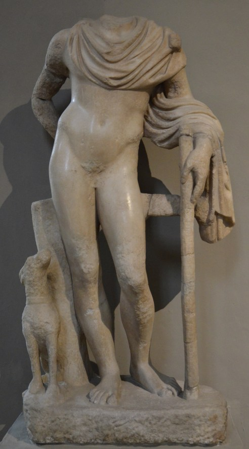 Marble statue of Meleager, from the Gymnasium of Salamis, 2nd century AD, Cyprus Museum