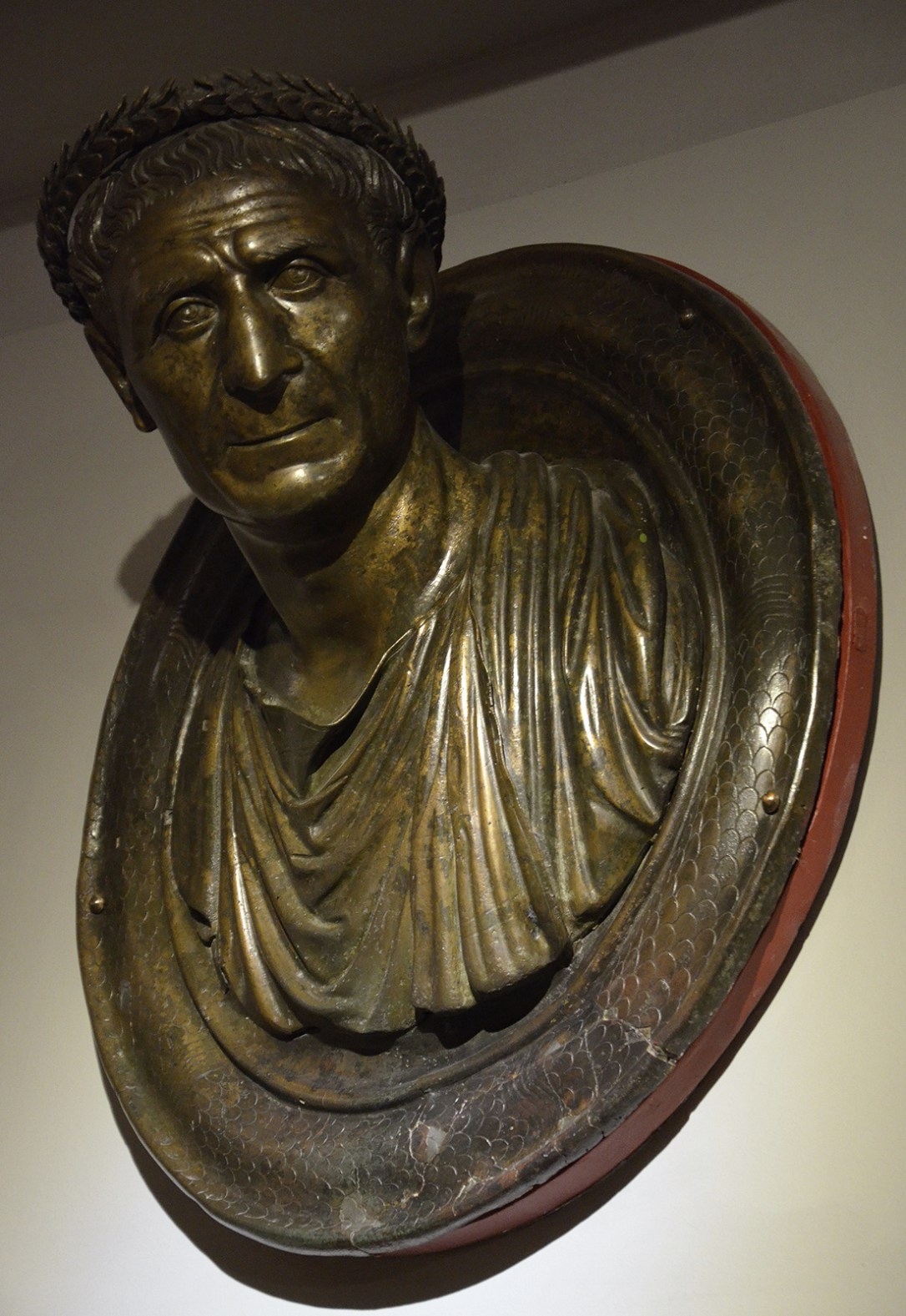 Round todo with bust of Ulpius Aelius Pompeianus, the Agonothetes of the sacred games of Ancyra, Hadrianic period (117-138 AD), discovered in 1950s during foundation excavations in Ankara, Museum of Anatolian Civilizations, Ankara
