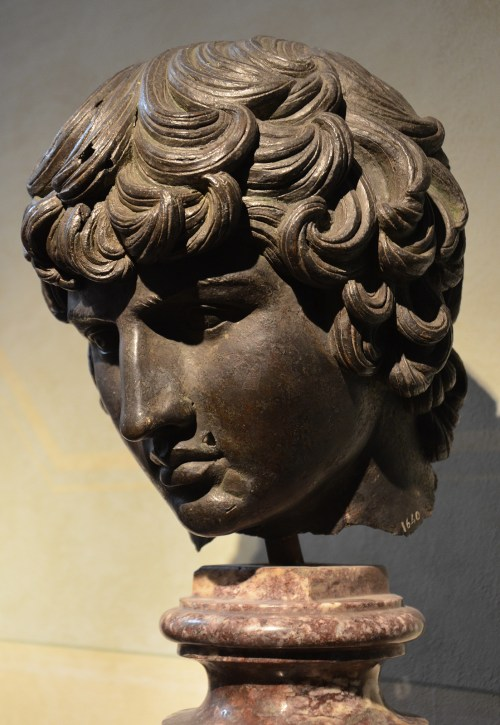 Renaissance copy of a bronze head of Antinous, probably executed at the time of Cosimo I before 1574, National Archaeological Museum of Florence, Italy