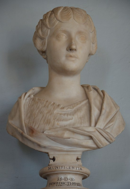 Portrait of empress Faustina the Younger (daughter of Antoninus Pius and wife of Marcus Aurelius). Musei Capitolini, Rome