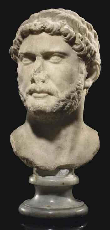 A ROMAN MARBLE PORTRAIT BUST OF THE EMPEROR HADRIAN Christie's - 9 June 2011, New York, Rockefeller Center http://www.christies.com/lotfinder/Lot/a-roman-marble-portrait-bust-of-the-5443364-details.aspx