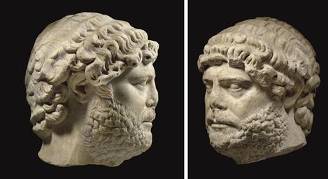 A ROMAN MARBLE PORTRAIT HEAD OF THE EMPEROR HADRIAN Christie's - 11 December 2009, New York, Rockefeller Center http://www.christies.com/lotfinder/ancient-art-antiquities/a-roman-marble-portrait-head-of-the-5274188-details.aspx