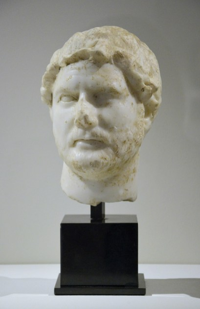 Marble head of Hadrian Rome 128-138 AD Provenance: Charles Ede Ltd, bought in 1971 from the Maison Evangelisti Ancient collection Bouzid-Guiga, Paris Phoenix Ancient Art S.A, Geneva