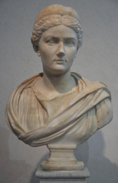 Bust of Sabina found on the Via Appia, 134-136 AD, Palazzo Massimo alle Terme, Rome