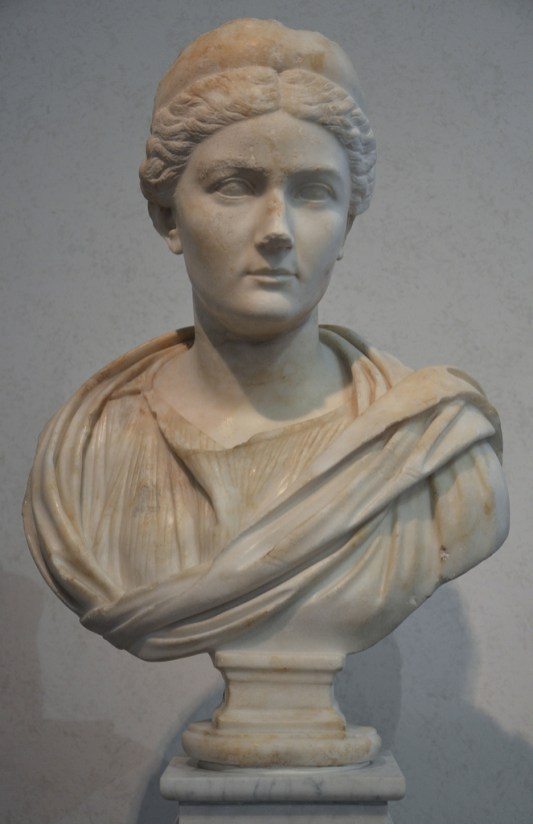 Bust of Sabina found on the Via Appia, 134-136 AD, Palazzo Massimo alle Terme, Rome