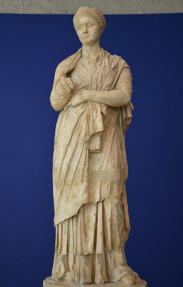 Statue of Empress Sabina, found alongside that of her husband Hadrian in the Roman theatre, Vaison-la-Romaine