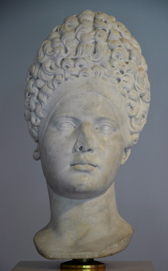 Portrait of an unknown woman identified as Vibia Sabina, the wife of Hadrian, 2nd century AD, Museo archeologico di Fiesole, Italy