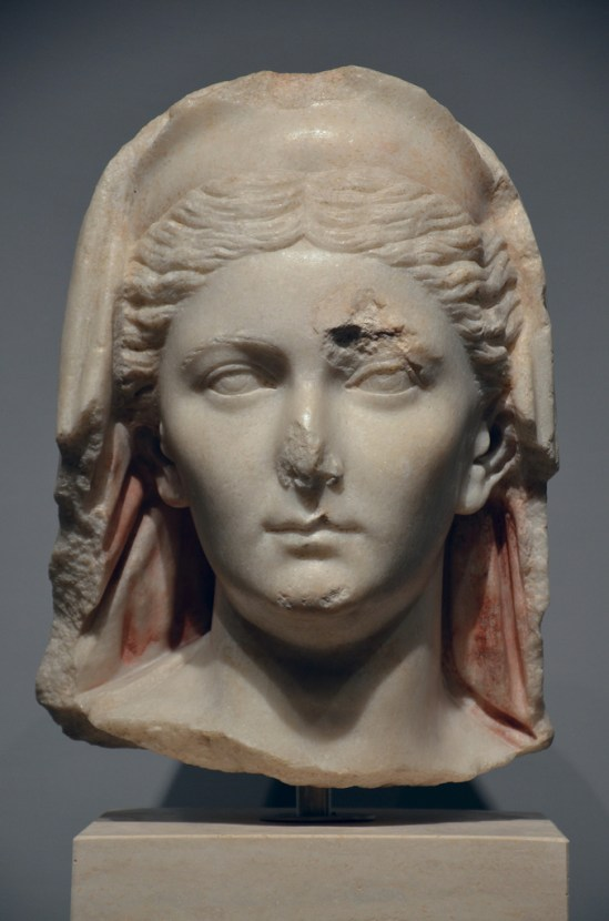 Portrait of Sabina found near near Vittorio Emanuele II, 136-138 A.D., Palazzo Massimo alle Terme, Rome
