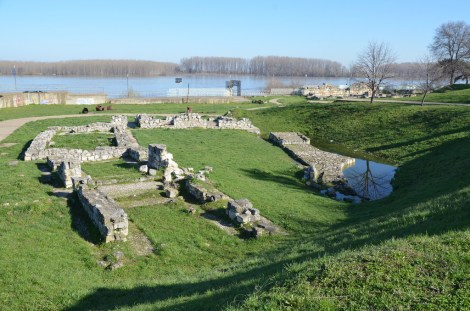 The Danube and Byzantine remains in Silistra.