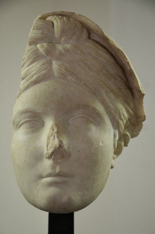 Portrait of Vibia Sabina, found at Hadrian's Villa in Tivoli