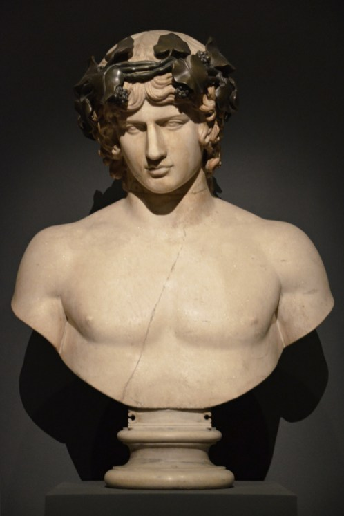 Marble bust of Antinous, from the Hermitage Museum.