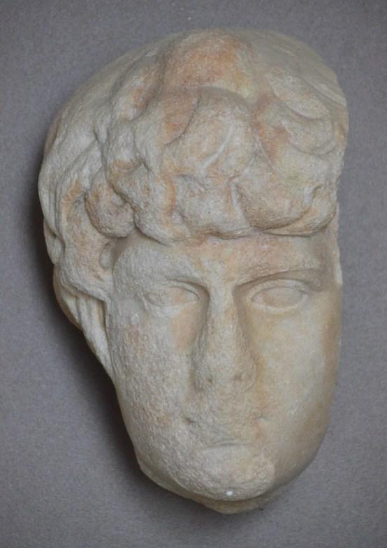 Portrait of Antinous, from Puteoli, Marble from Thasos, Museo Archeologico dei Campi Flegrei nel Castello di Baia, Italy