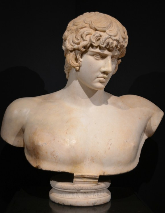 Bust of Antinous, from Syria, after AD 130.