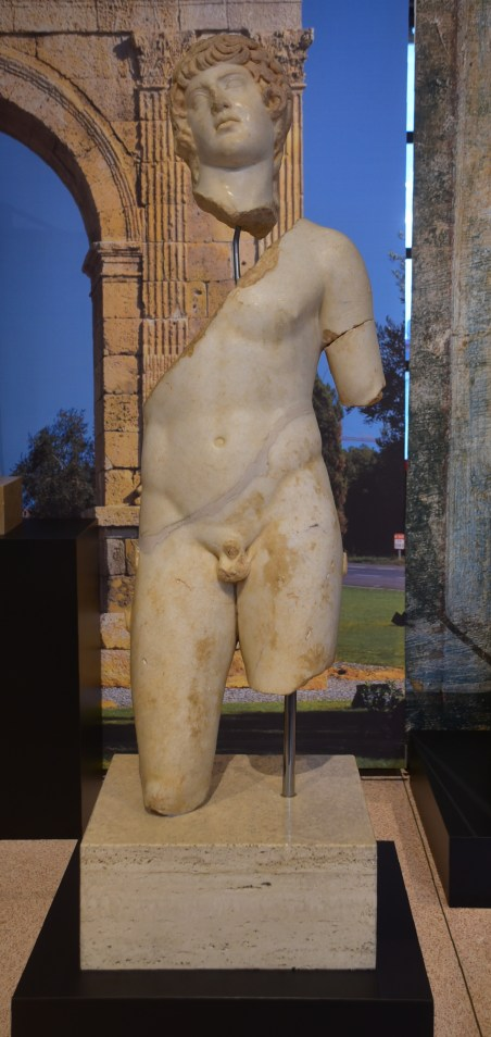 Statue of Antinous from the Villa of Els Munts, National Archaeological Museum of Tarragona, Spain.