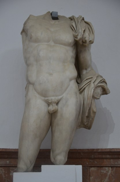 Colossal heroic statue of Hadrian, from Italica, Paros marble, Museum of Archaeology, Seville