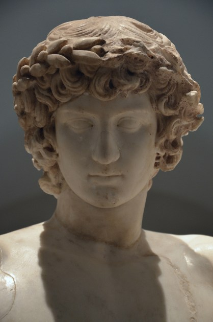 The Orestes and Pylades group (also known as San Ildefonso Group), detail of head of Antinous added to the ground in the 17th century, around 10 BC, Museo del Prado, Madrid