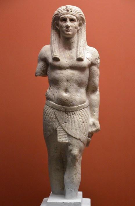 Statue of Antinous as Osiris, from Canopus, Egypt, Osiris, Sunken Mysteries of Egypt exhibition Paris 2015