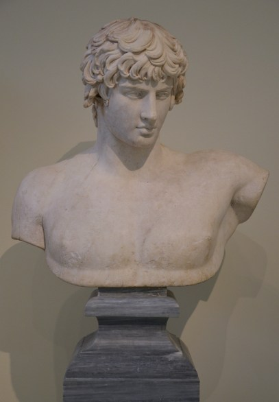Bust of Antinous, from Patras, 130-138 AD, National Archaeological Museum of Athens