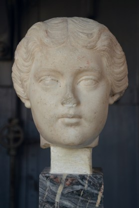 Portrait of Lucilla, daughter of Marcus Aurelius and Faustia, portrayed after her marriage with Lucius Verus and the birth of her first son, 165-166 AD Centrale Montemartini, Rome