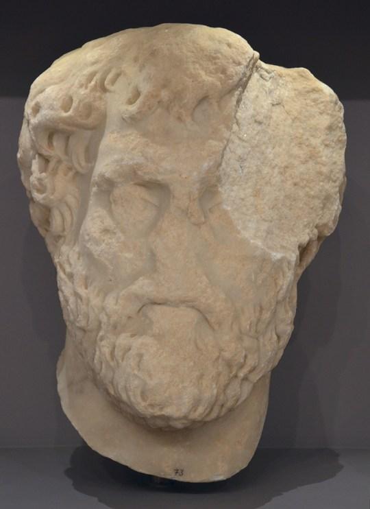 Portrait of emperor Antonius Pius.