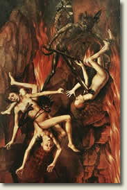 Painting of the damned in hell