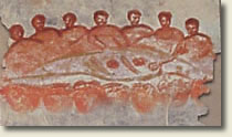 Early Christians at table