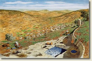 Drawing of first-century Nazareth