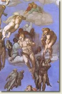 "Resurrection of the dead from Michelangelo's ""Last Judgment"""