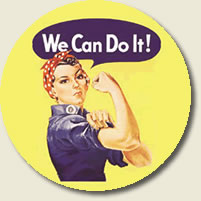 """Rosie the riveter - """"We can do it!"""""""