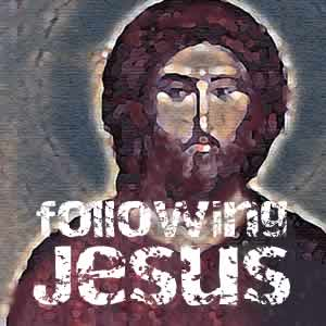 following Jesus with icon