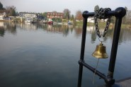 The bell to ring (on the quarter hour) for the ferry across the river to Shepperton, £1