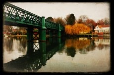 Bourne End railway bridge, opened in 1894