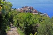 Looking back down to Corniglia