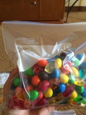 Gummi Bears and MM's